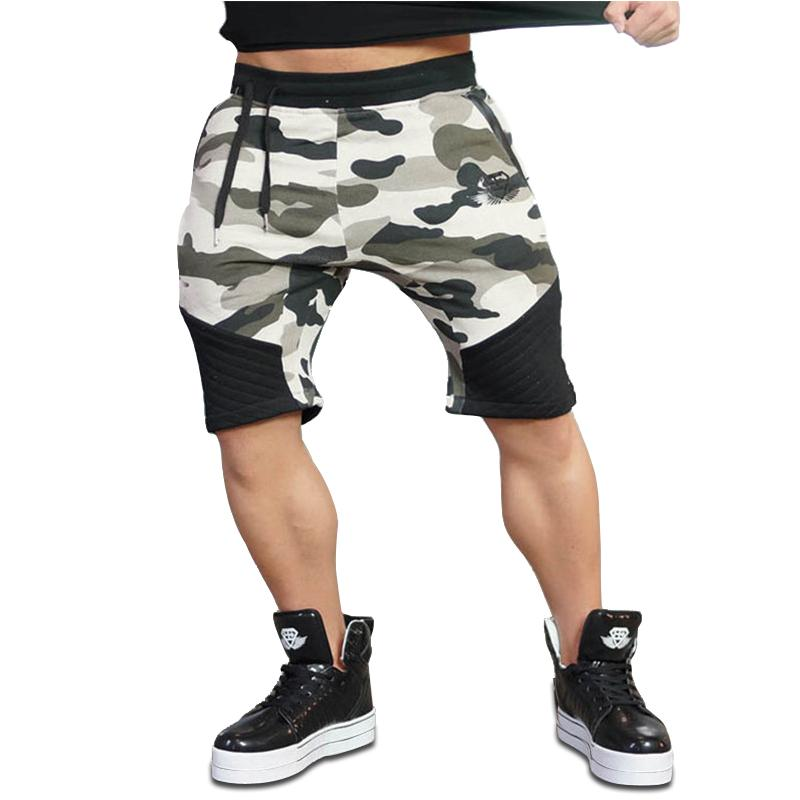 Hot Gyms 2018 New Shorts Hombres Bermuda Para Body Fitness Trainings De Respirable Sports Camouflage S Loose Algodón Men Engineers NOv80wnm