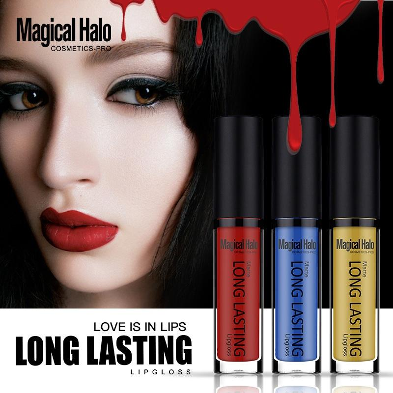 Magical Halo Matte Long Lasting Lip Gloss Nonstick Cup Nonfaded Waterproof Liquid Lipstick Professional Lips Makeup