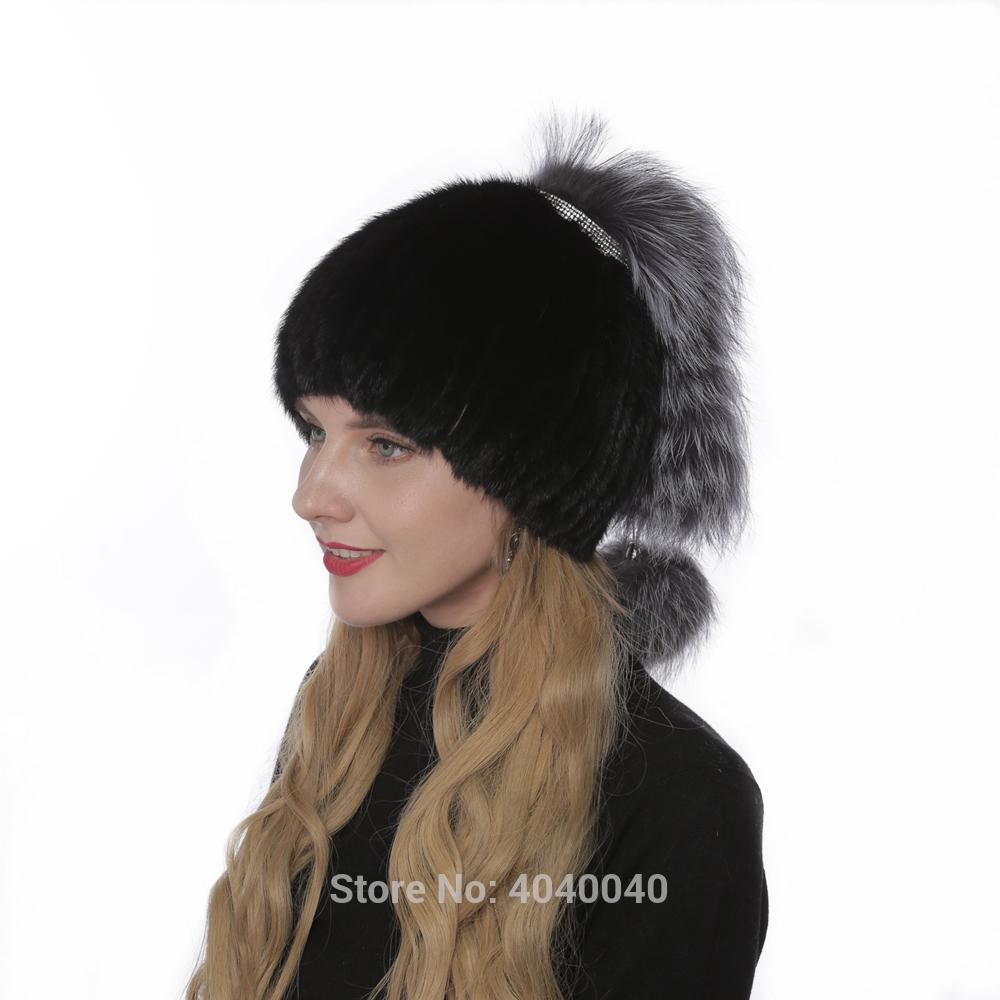 45e2fe32dafcd 2019 Bravalucia 2018 Fashion Style Real Hat For Women Silver Fox Decoration  Pompom Bomber Russian Hats Ushanka Trapper Caps From Henrye
