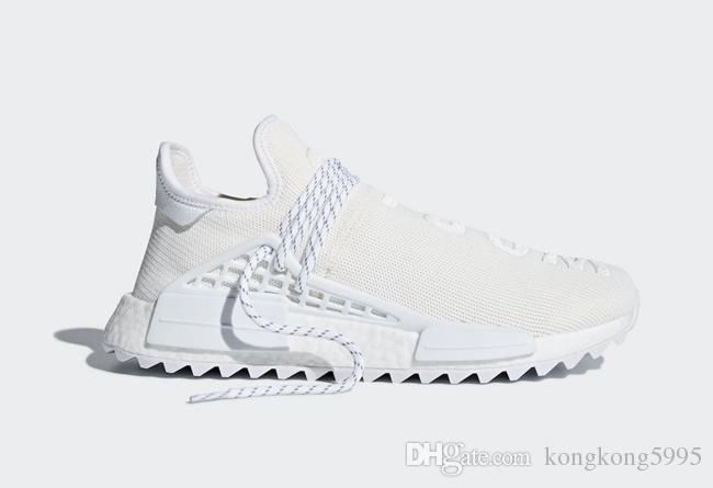 84d6711fb 2018 Human Race Pharrell X Hu Trail Blank Canvas White Woman Man Running  Shoes Sports Sneakers With Original Box Men Sports Shoes Shoe Shops From ...
