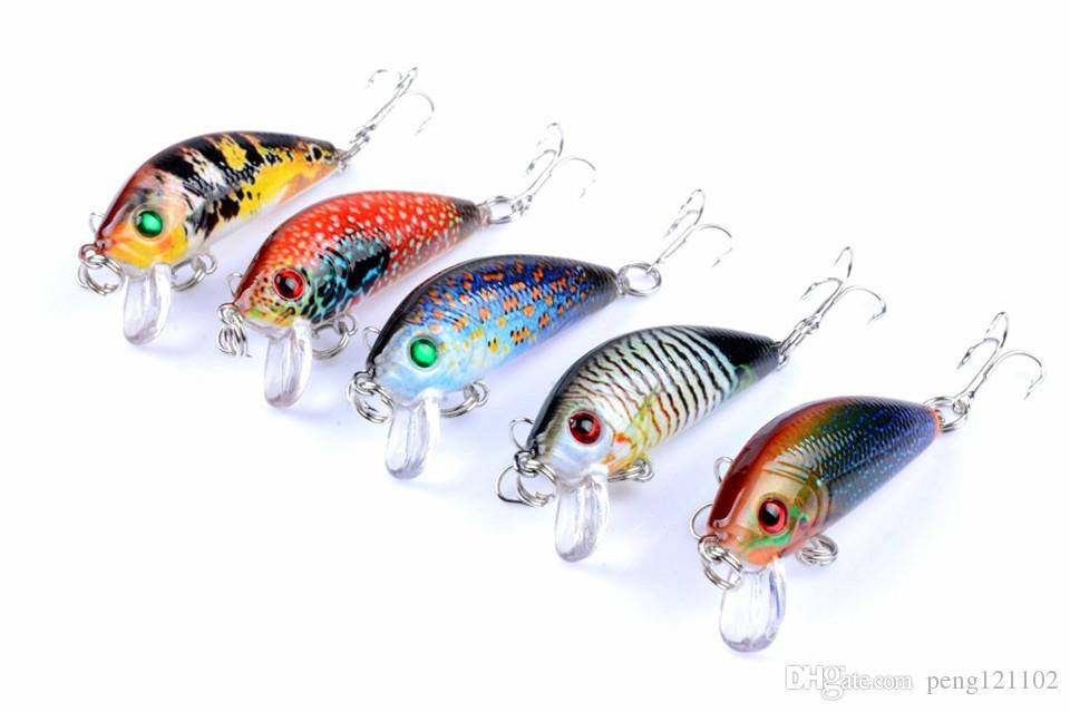 Promotional 3.8g 5cm Minnow Fishing Lure Artificial Bait Hard Plastic Fishing Lure Casting Bait Fishing Tackle china hook suspend type