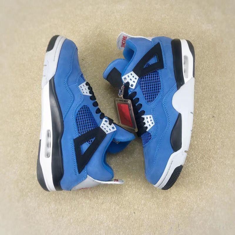 d4adbb15ea75 Travis New Release 4 Houston 4S Cactus Jack IV Blue Basketball Shoes For  Men Limited Sneakers Authentic Quality 308497 406 Basketball Shoes For  Girls ...