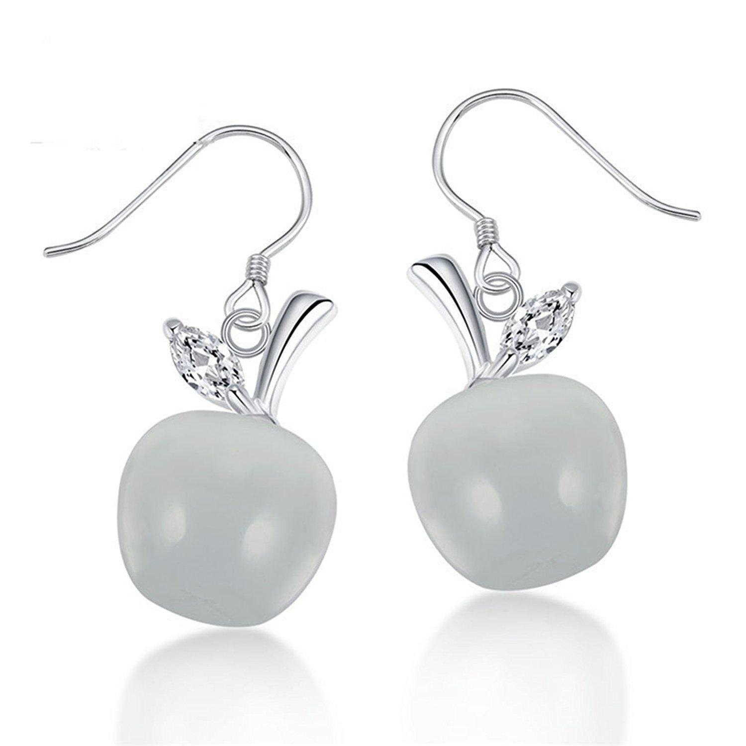 earrings stone white drop shaker s claire