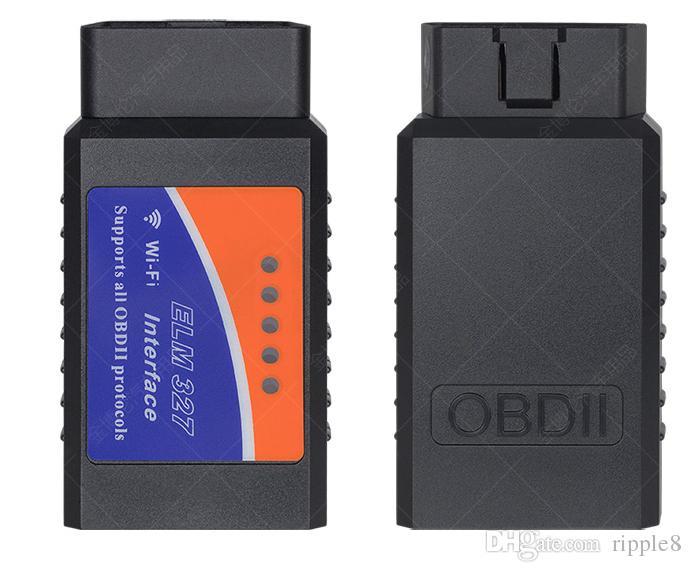 OBD2 OBD2 ELM 327 OBD II Ferramenta de Verificação WIFI Elm 327 Sem Fio OBD2 Auto Diagnóstico Cabo