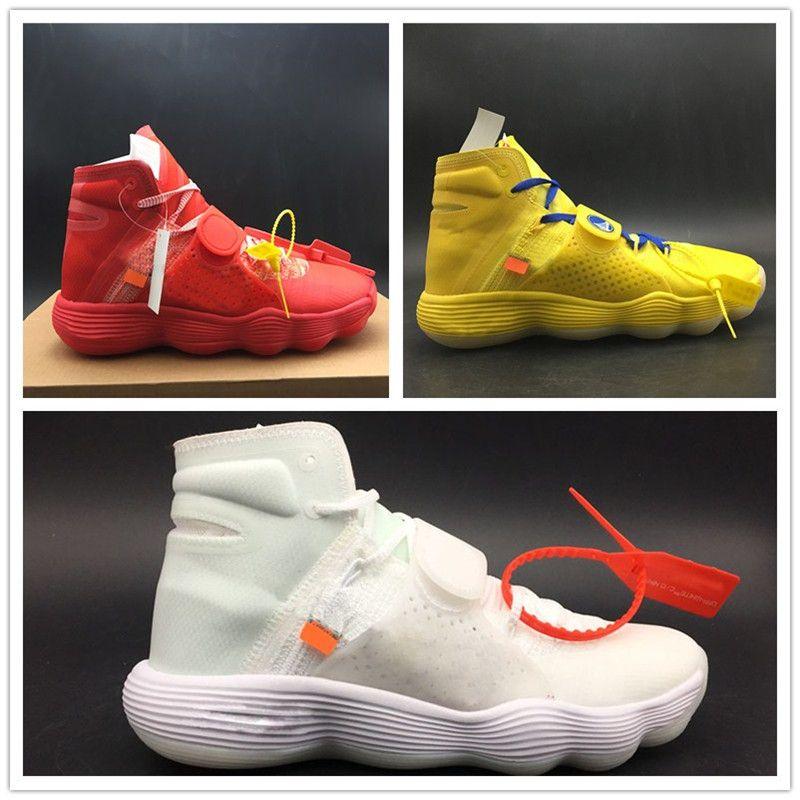 7ce76c40b HOT Hyper Dunk High React FK Basketball Shoe White Red Yellow Top Fashion  Designer Sport Shoe Real Quality Lace Up Hyper Dunk Basketball Shoes Sport  Shoe ...