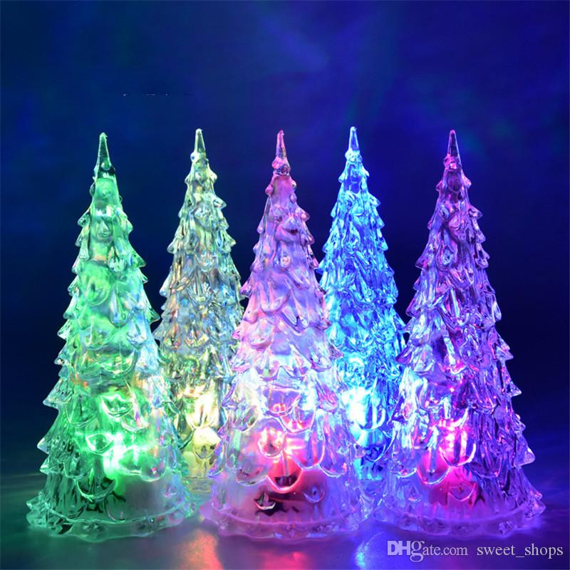 Lights & Lighting 100% Quality Acrylic Led Colors Changing Christmas Tree Night Light Lamp Xmas Party Decor