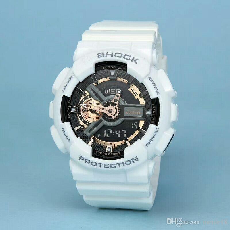 New fashion men and women sports watch high quality dual clock LED waterproof watch multi-function digital electronic neutral watch.gift