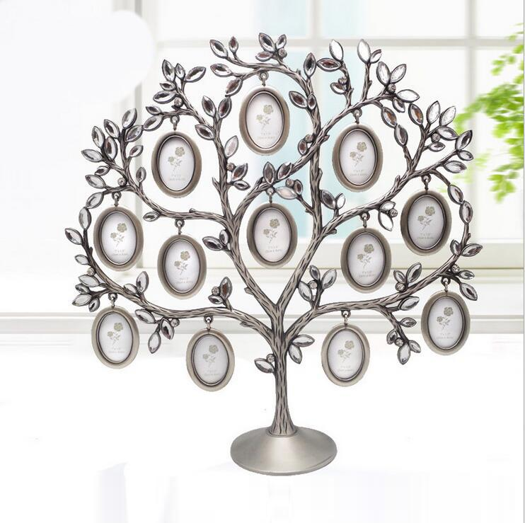 2019 2015 Luxurious Family Tree Metal Rhinestone Photo Frame Baby