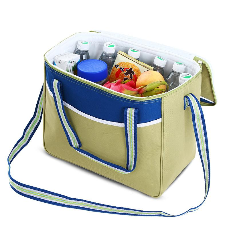 Folding Insulation Picnic Bags Thermal Insulation Cooler Lunch Box Bag Fresh Keeping Ice Beer Pack Fruit Container 20L