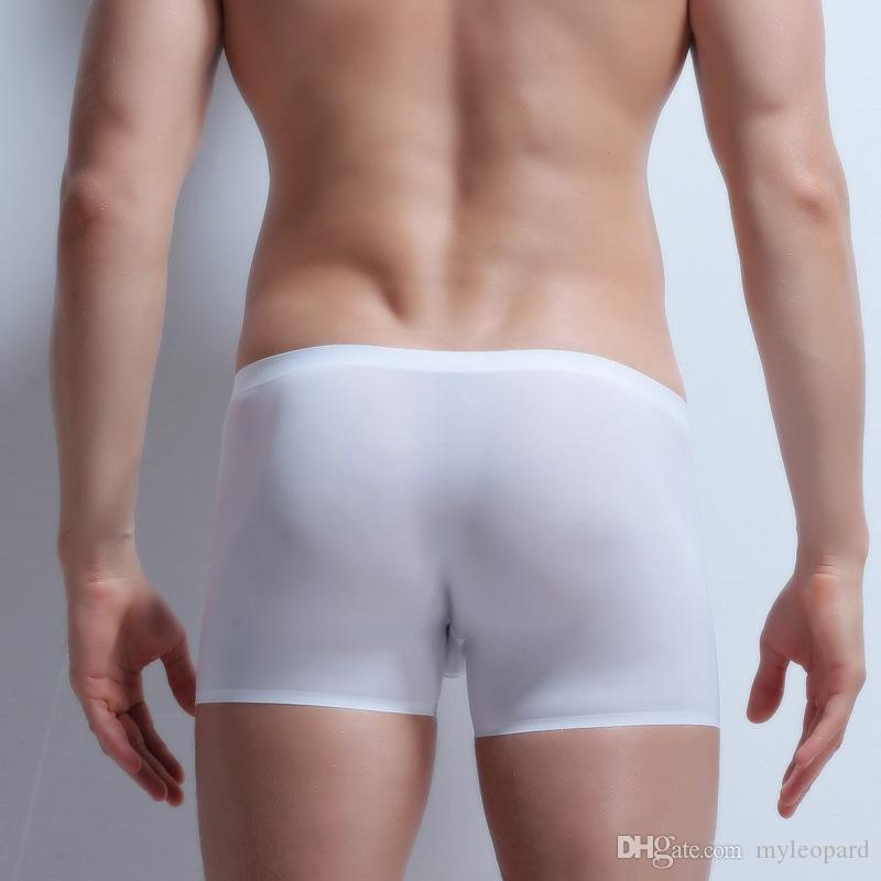 men boxers no trace super thin underwear sexy U convex breathable boxers invisible boxer shorts man undershorts 2019 bottoms clothes