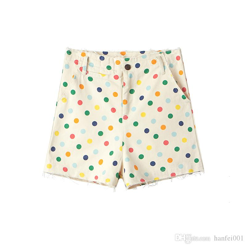 dd4f09f7d63d9c 2019 18ss Golf Wang Rainbow Polka Dot Shorts Canvas Cargo Pants Trendy Men  Streetwear Unisex Ripped Cargo Style Shorts HFTTDK001 From Ffcheer