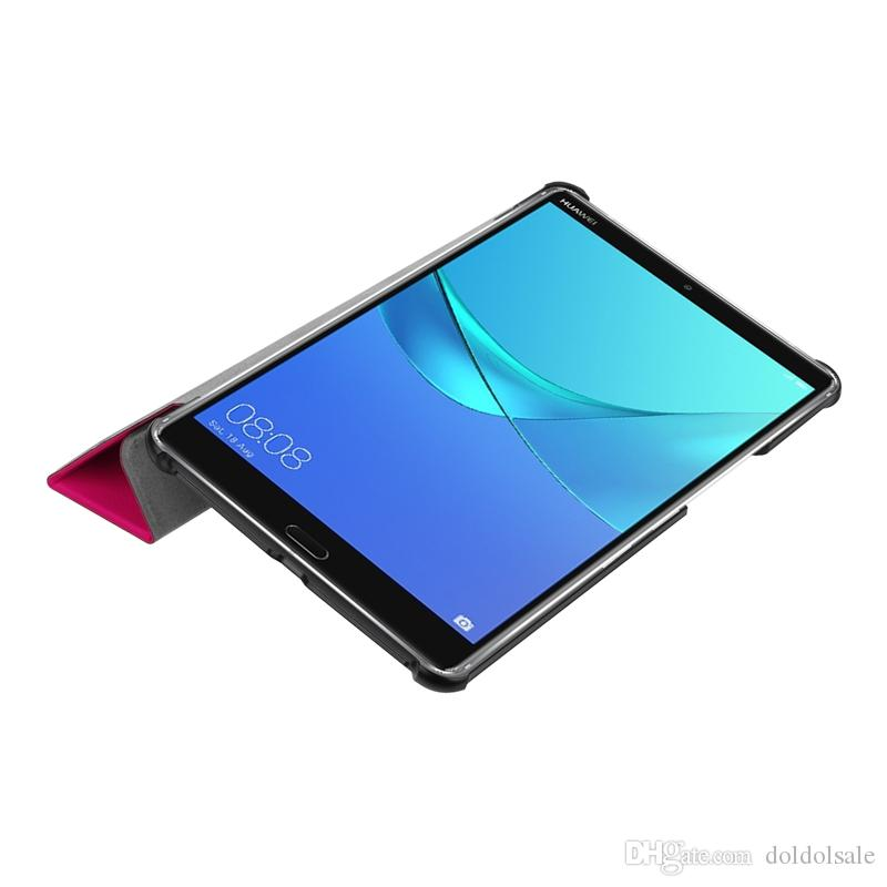 Flip Book Cover PU Leather Case with Stand for Huawei Mediapad M5 8.4 inch SHT-AL09 SHT-W09 Tablet + PET Clear Screen Protector