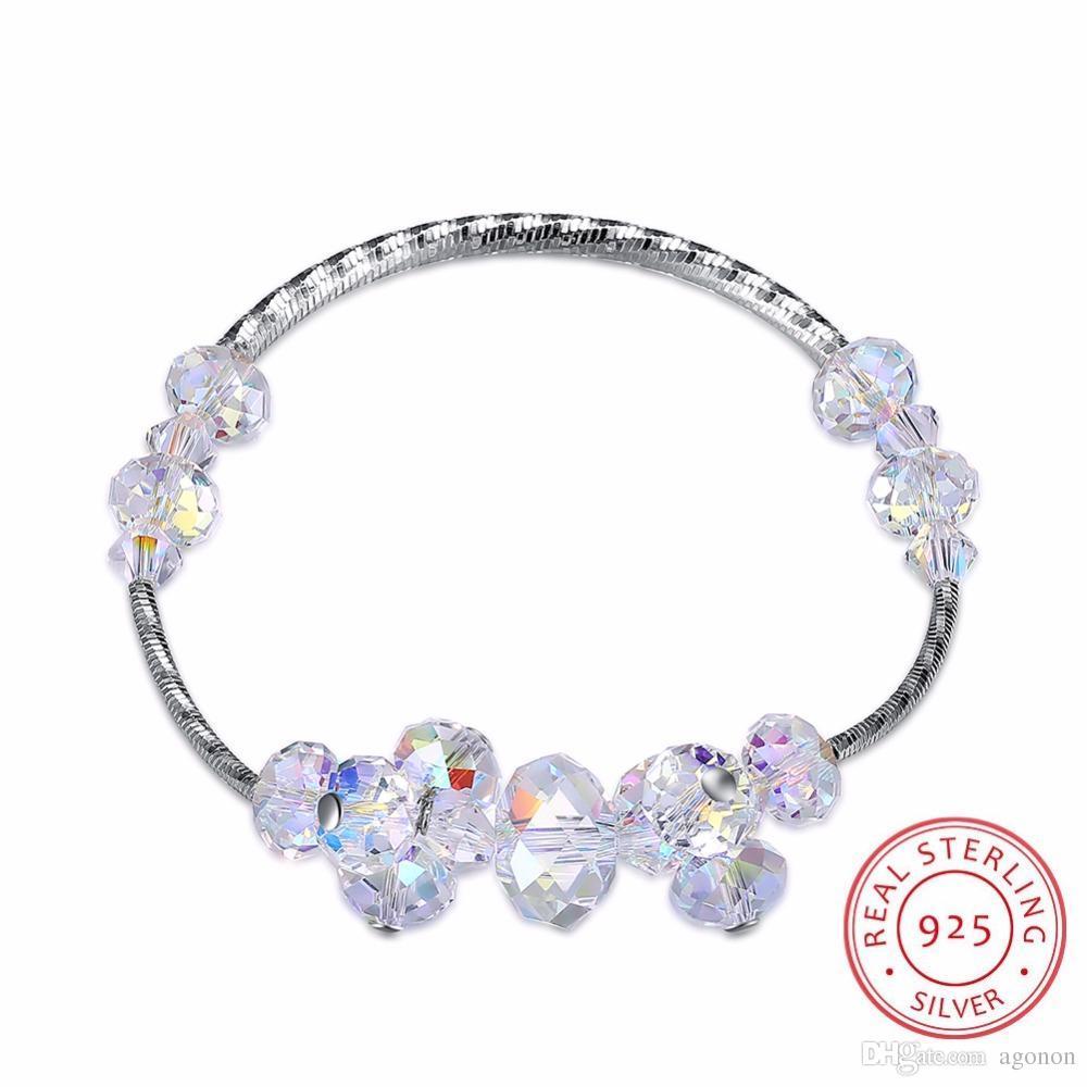 LEKANI Crystals From Swarovski Elements Bracelet Women Fine Jewelry 925  Sterling Silver Bracelt Charms Bracelet Mom Hand Chain Ladies Charm  Bracelets Charm ... 25aaf519e