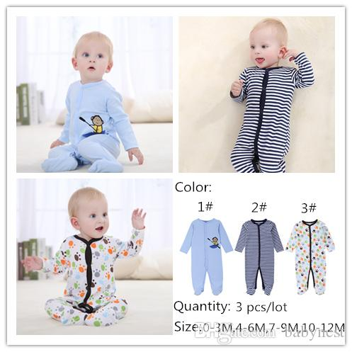 a52931b37f87 2019 2017 Brand New Baby Boy S Cartoon Jumpsuits Pajamas Rompers 100 ...