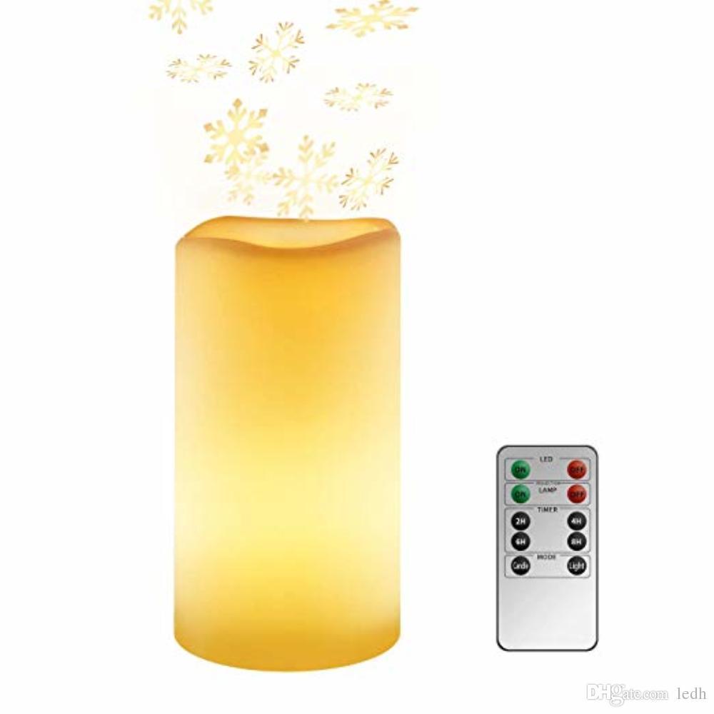 7788b38c729 Compre Romántico Sin Llama LED Velas Electrónicas Luz Boda Cera Perfumada  Decoración Del Hogar Velas Sin Llama Con Pilas LED Luz De La Vela Proyector  A ...