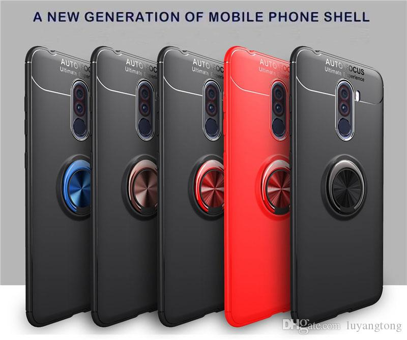 For Xiaomi Pocophone F1 Case 6 18inch 360 Degree Ring Finger Holder