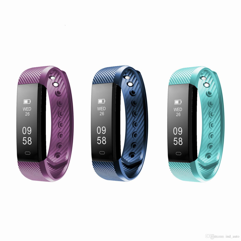 70fb8f8bf13f Comprar Smartband Pulsera Deportiva Inteligente Ejercicio De Actividad  Física Pulsera Monitor De Ritmo Cardíaco Bluetooth 4.0 Reloj Fitbit Pulsera  Para IOS ...