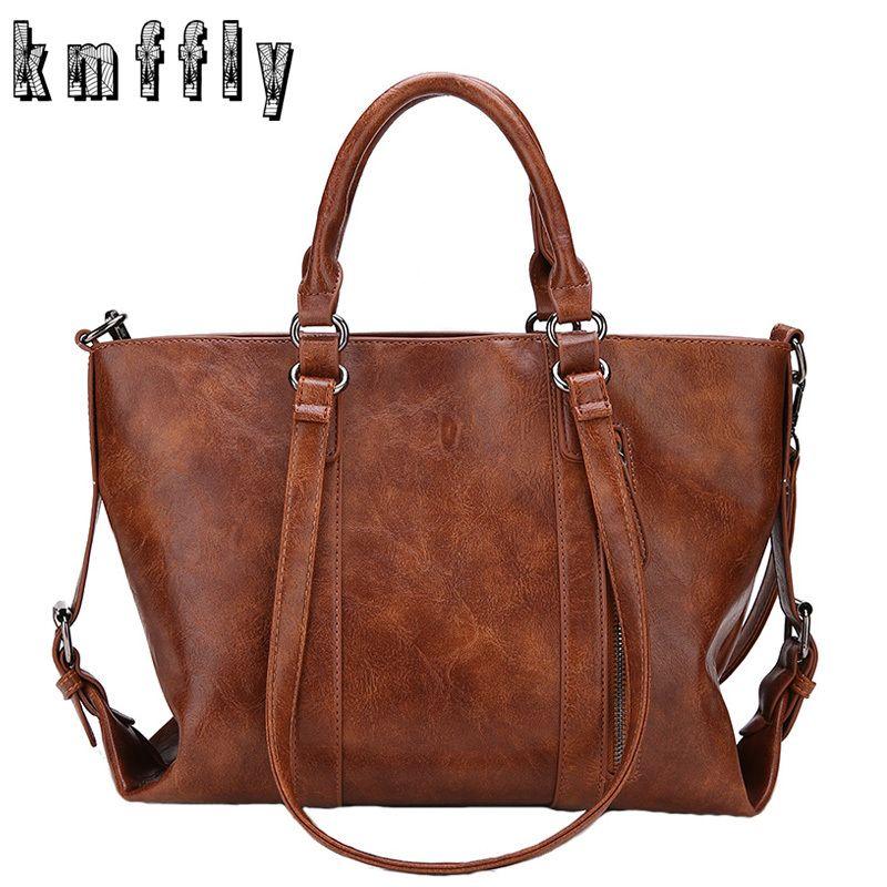cd7463b8e3cb KMFFLY 2018 New Women Bag Designer Vintage Pu Leather Large Women Messenger  Bags Designer High Quality Casual Shoulder Tote Bag Y1890801 Discount  Handbags ...