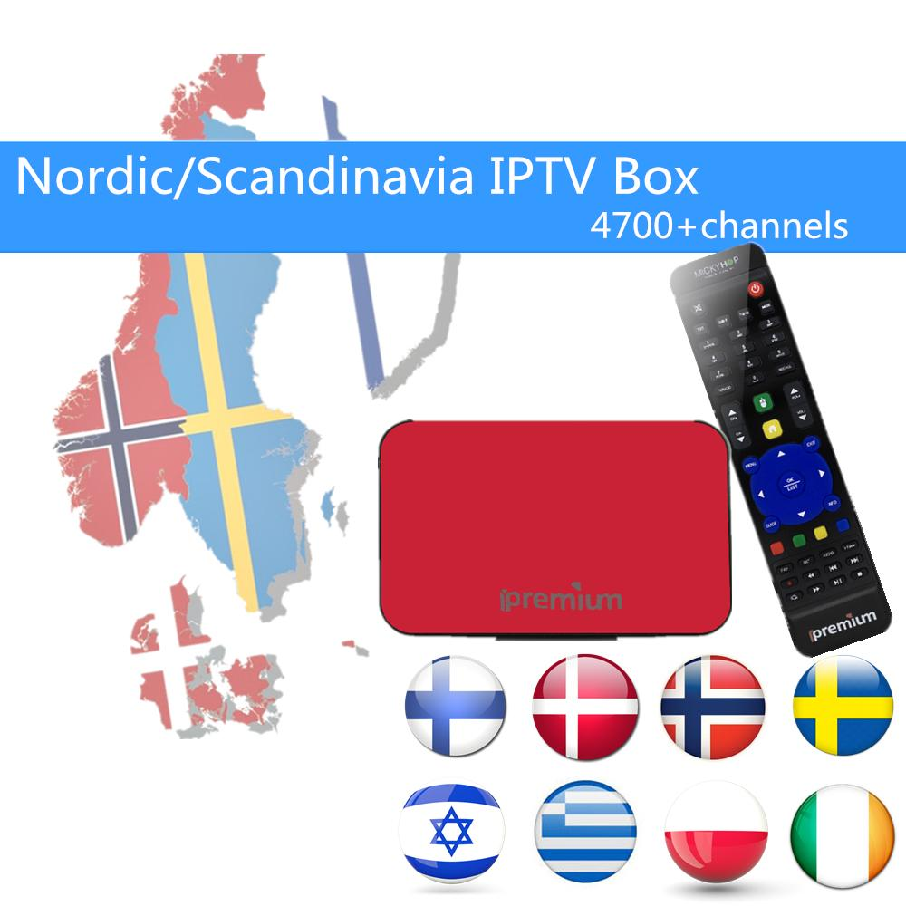 Nordic Scandinavia IPTV Box AVOV TVonline tv box+ European IPTV more than  4700+live Sweden Norway Denmark Irael Channels