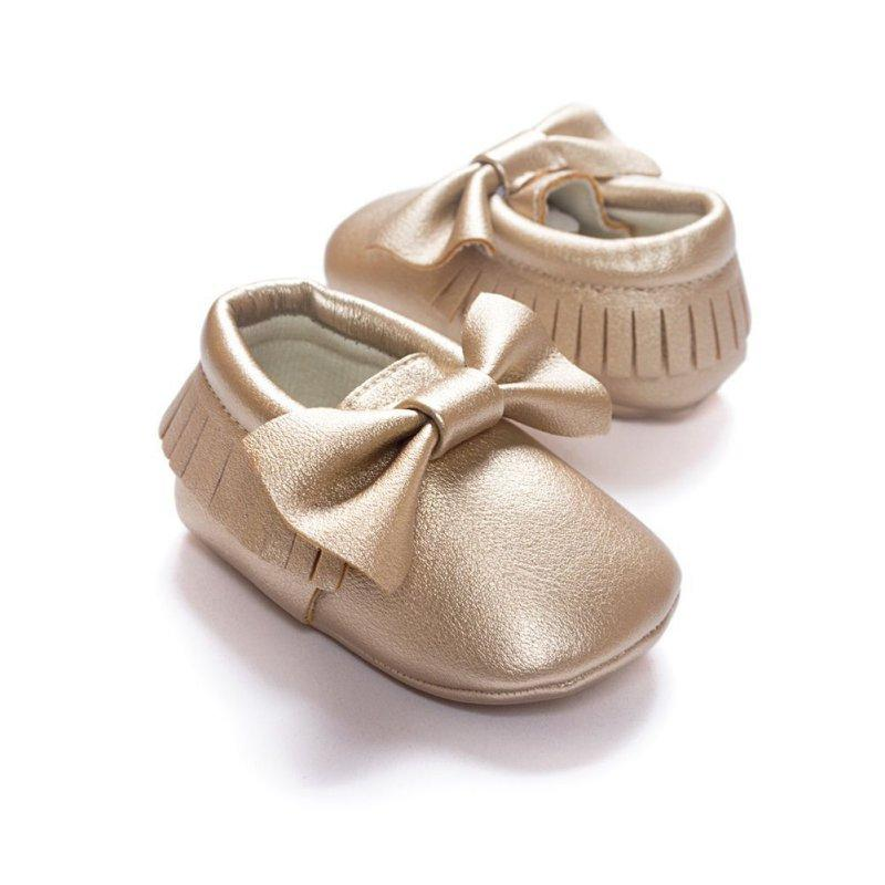 2019 2017 Unisex Toddlers Baby Shoes Soft Soled Tassel PU Leather Crib  Shoes Prewalker Bow Shoe First Walkers Without Logo From Orchidor 68eb01df88de