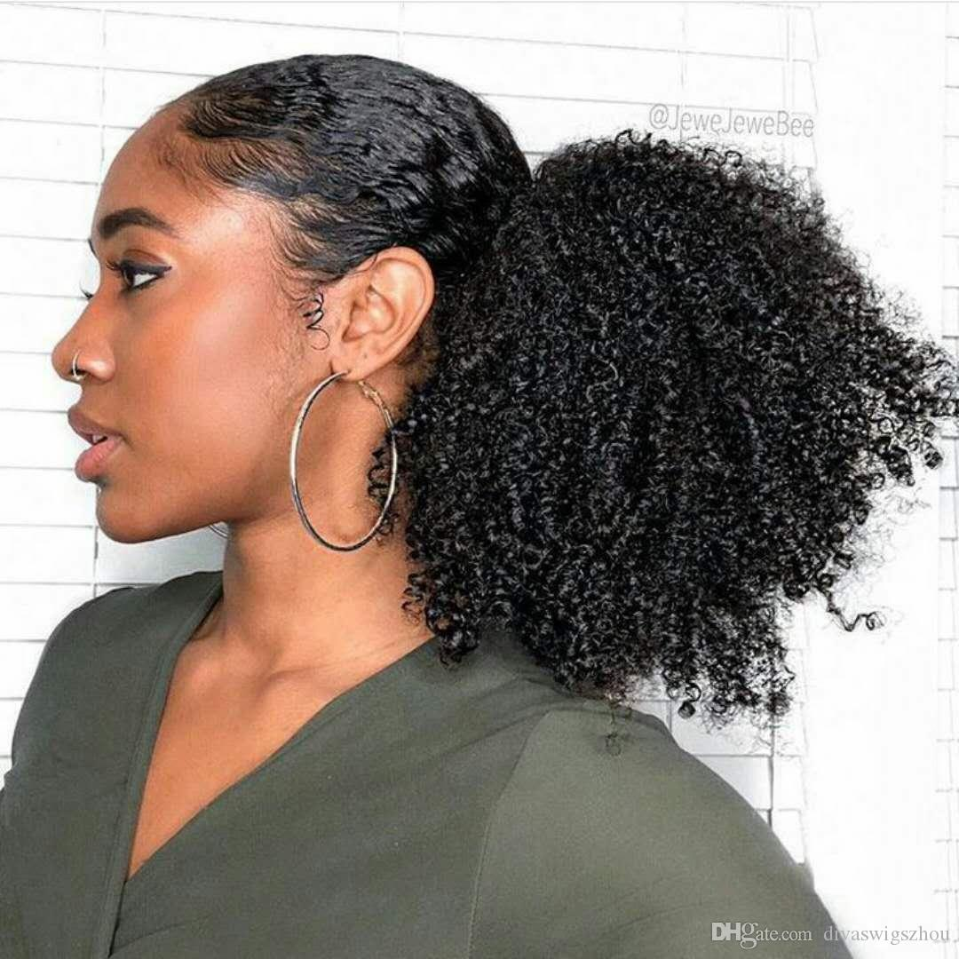 curly hair ponytail styles 4c curly human hair ponytail 8005