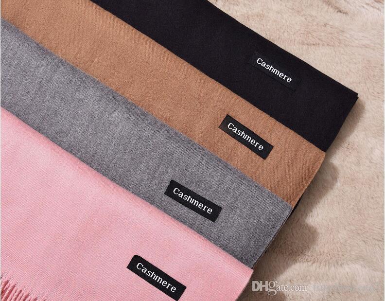 28 стилей чистого цвета кашемировые шарфы весна осень мужчина и женщина пашмина 200 * 60 см классический кашемировый платок
