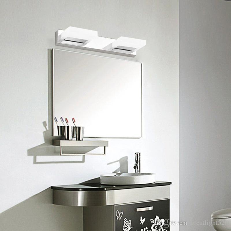 360 ° giram a lâmpada de parede de aço inoxidável dianteira do acrílico da luz do diodo emissor de luz do acrílico do banheiro