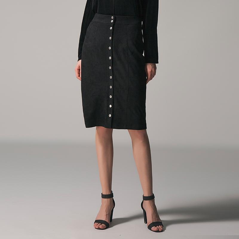 74dec21826da8a 2018 Pencil Skirts 2018 Summer Autumn Women Vintage Elegant High Waist  Buttons Skirt Casual Slim Office Ladies Work Female Skirt From Shipsoon, ...