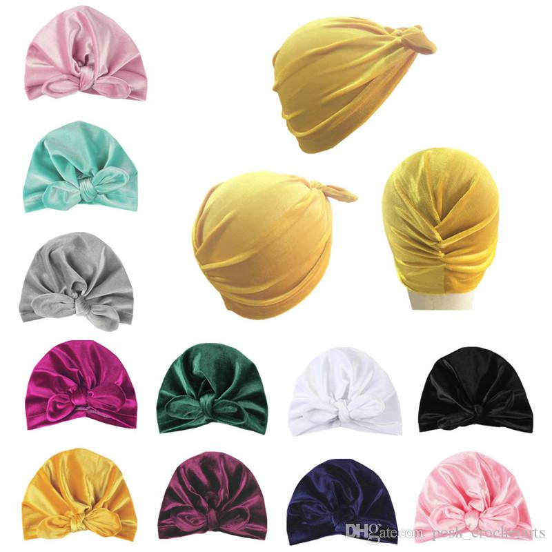 1e1916c22b3 2019 Turban Baby Hats Newborn Velvet Turbans For Boys And Girls Solid  Autumn And Winter Beanies For Infants Hijabs Baby Babe Head Wear From  Posh crochetarts ...