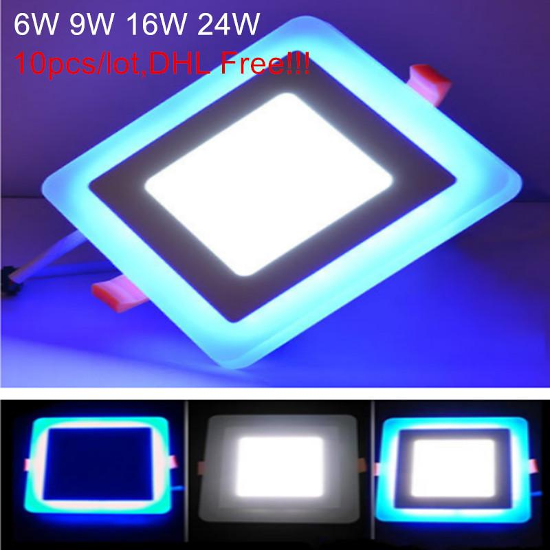 Back To Search Resultslights & Lighting 10pcs 6w 9w 16w Acrylic Led Panel Downlight 3 Model Square Panel Light Warm Cold White Blue Ceiling Recessed Lamp Indoor Light