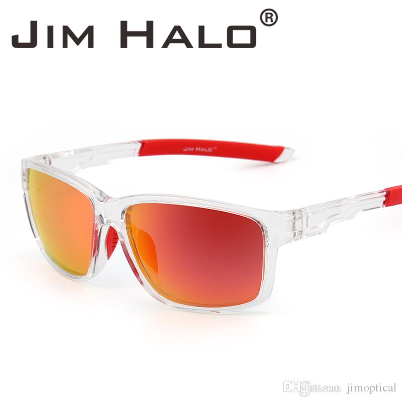 f70adce2059c5 Jim Halo Square Polarized Sports Sunglasses Mirror Wrap Around Driving  Fishing Men Women Eyewear Retro Vintage Sun Glasses Smith Sunglasses  Sunglasses At ...