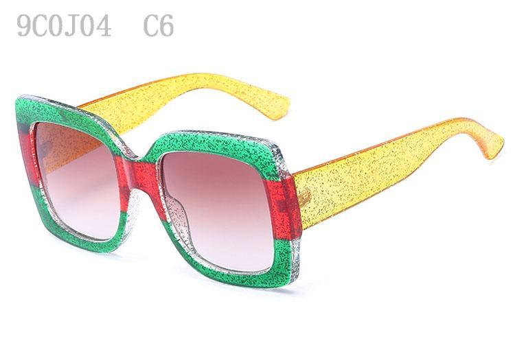 Kadınlar Tasarımcı Güneş Trendy Sunglass Kadın Retro Lüks bardakları Moda Büyük Boy Sunglases 9C0J04 İçin Güneş Güneş Gözlükleri Güneş