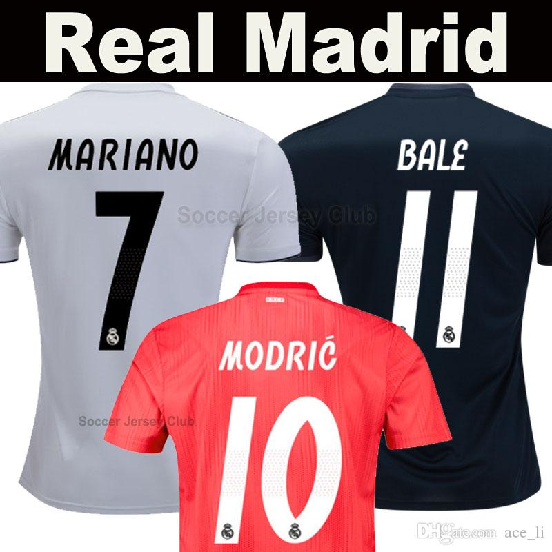 2019 18 19 Real Madrid EA Sports Soccer Jersey MARIANO BALE ISCO 2019  ASENSIO MODRIC BENZEMA Champions Top Thai Football Shirt Camiseta De Fútbol  From ... a94c474af