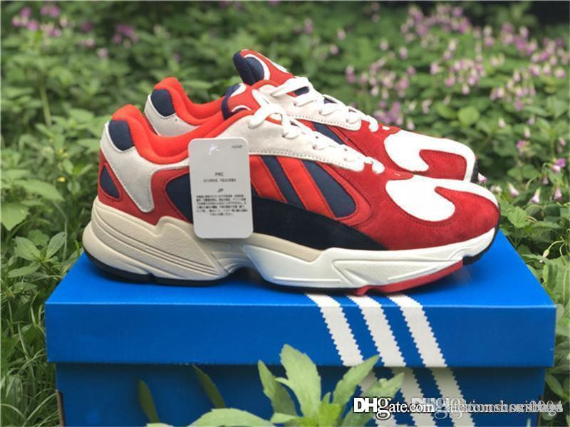72b5133967c2 2018 Originals Yung-1 Dad Shoe Navy Blue Hi-Red Orange Red Yung 1 White  EARLY RELEASE B37615 Running Shoes Come With Original Box Online with   160.0 Pair on ...