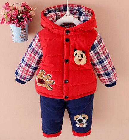 ccd675c5c14f 2019 2016 New Autumn Winter Baby Boys Lamb Warm Clothing Set Suit ...