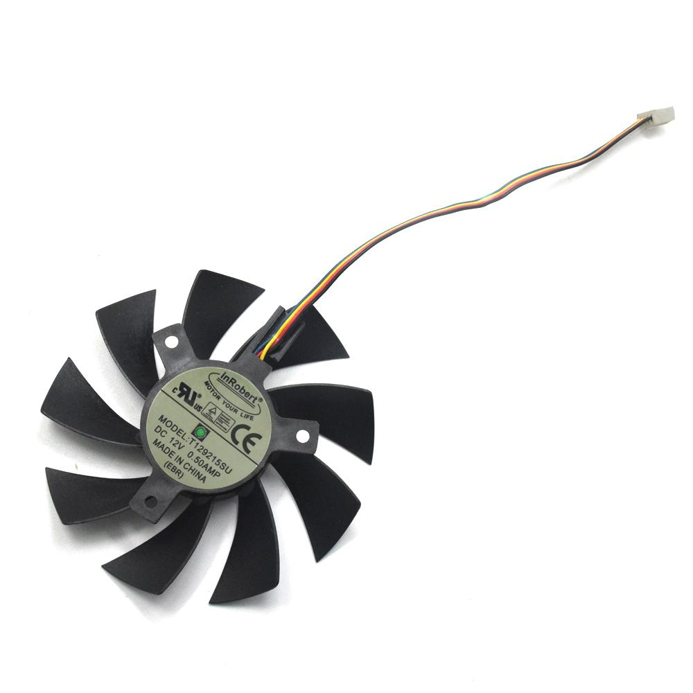 New 85mm T129215SU 4Pin Two Ball-Bearing Replace For MSI Gigabyte GTX 1060  RX 480 460 570 580 R9 290X Video Card 0 5A Cooler Fan