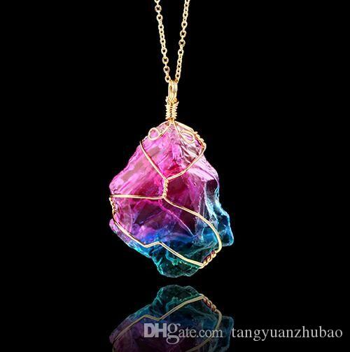 2018 quartz crystal necklace pendant newest women and men pendant 2018 quartz crystal necklace pendant newest women and men pendant for necklaces personality chakra bead gemstone necklace crystal healing point from aloadofball Image collections