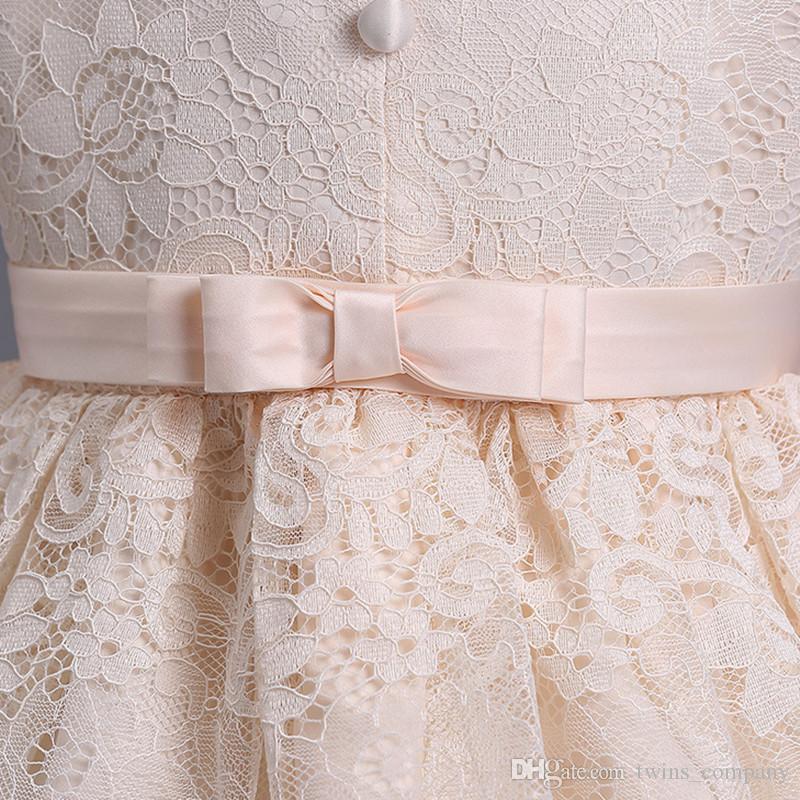 Fille Fleur tutu Princesse robe Enfants Infant Robe De Mariée Filles Tout-Petits Robe Élégante Infantil Partie Robe 3-10Y