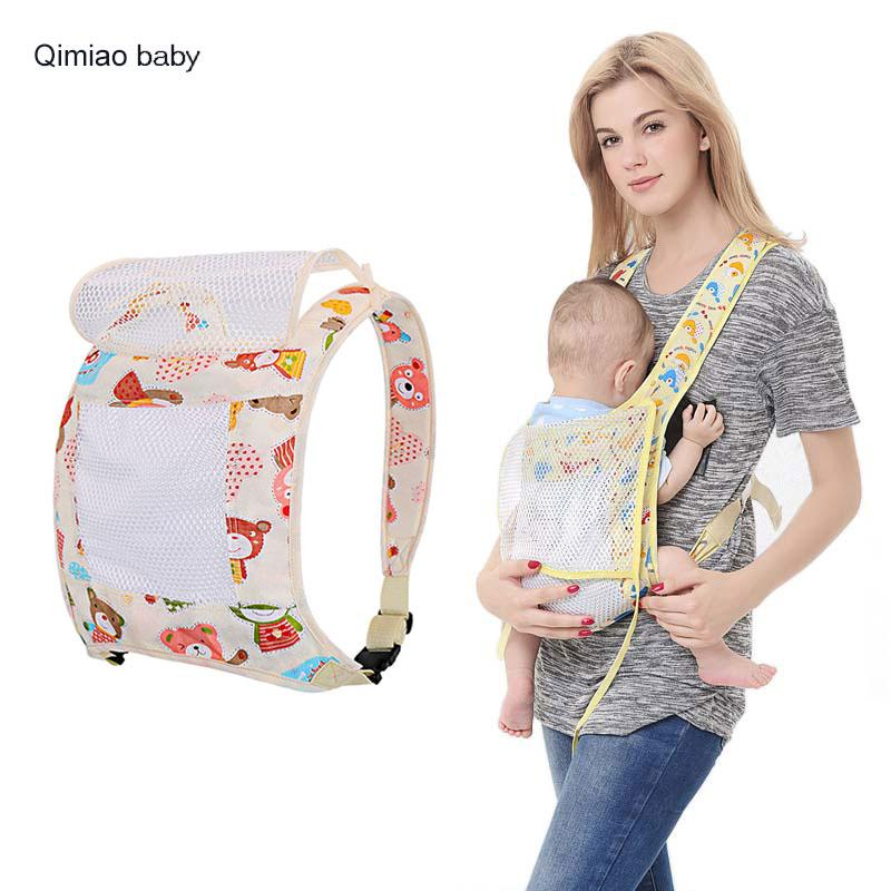 af8bb1d688ffe Summer Baby Carrier Breathable Mesh Style Sling Cotton Baby Wrap Backpacks  Mom Nursing Cover Infant Hipseat Kangaroo 0-36 Months Summer Baby Carrier  Baby ...