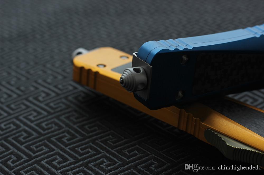 Lame de couteau VESPA de haute qualité: S35VN, poignée: aluminium + TC4 + CF, couteaux de survie pour le camping en plein air, outils EDC