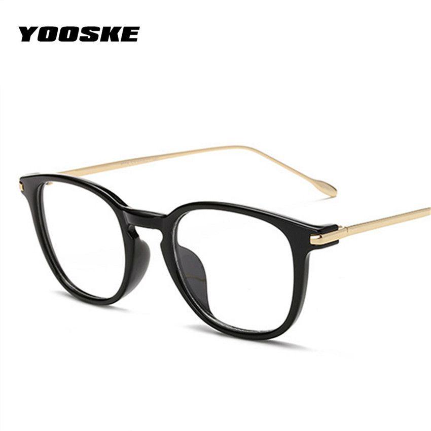 57d1bef875 YOOSKE Oversized Clear Glasses Frame Men Women Retro Metal Frame  Transparent Eyeglasses Spectacle Optical Cat Frames Eyewear Frames Cheap Eyewear  Frames ...