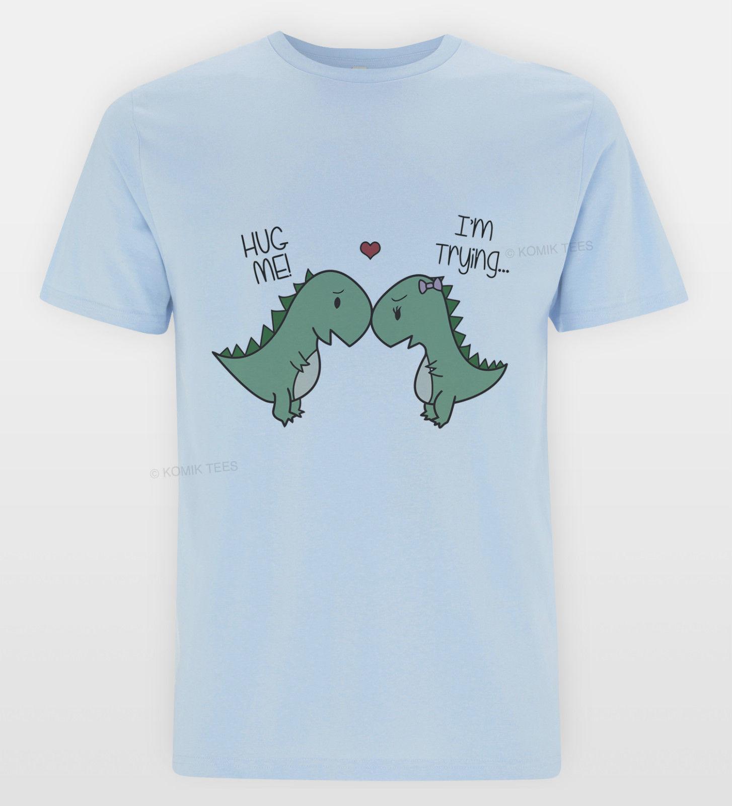 e5c25fab T REX Hug T Shirt Funny Dinosaur Cute Tee Indie Tumblr Sketch Funny Rex Top  Cartoon T Shirt Men Unisex New Biker T Shirts Make Your Own T Shirts From  ...