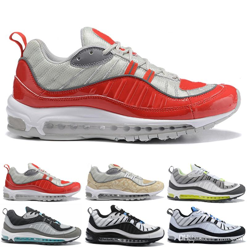 With Box Maxes OG 98 Gundam Men's Running Shoes Discount Man 98s Outdoor Sports Sneakers White Blue Red Black shoes Size 40-46 sale fashion Style EoKFy7E