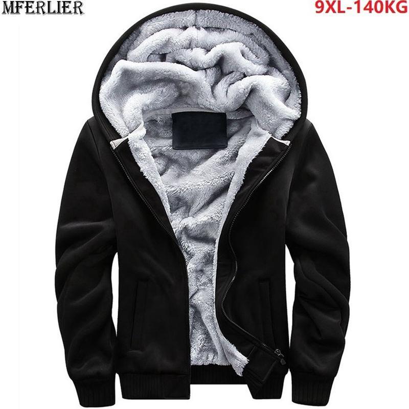 hommes pas cher parkas 8XL 9XL polaire épaisse chaude grande taille grand Sweats à capuche hoodies, plus la taille 7XL vestes d'hiver manteau de