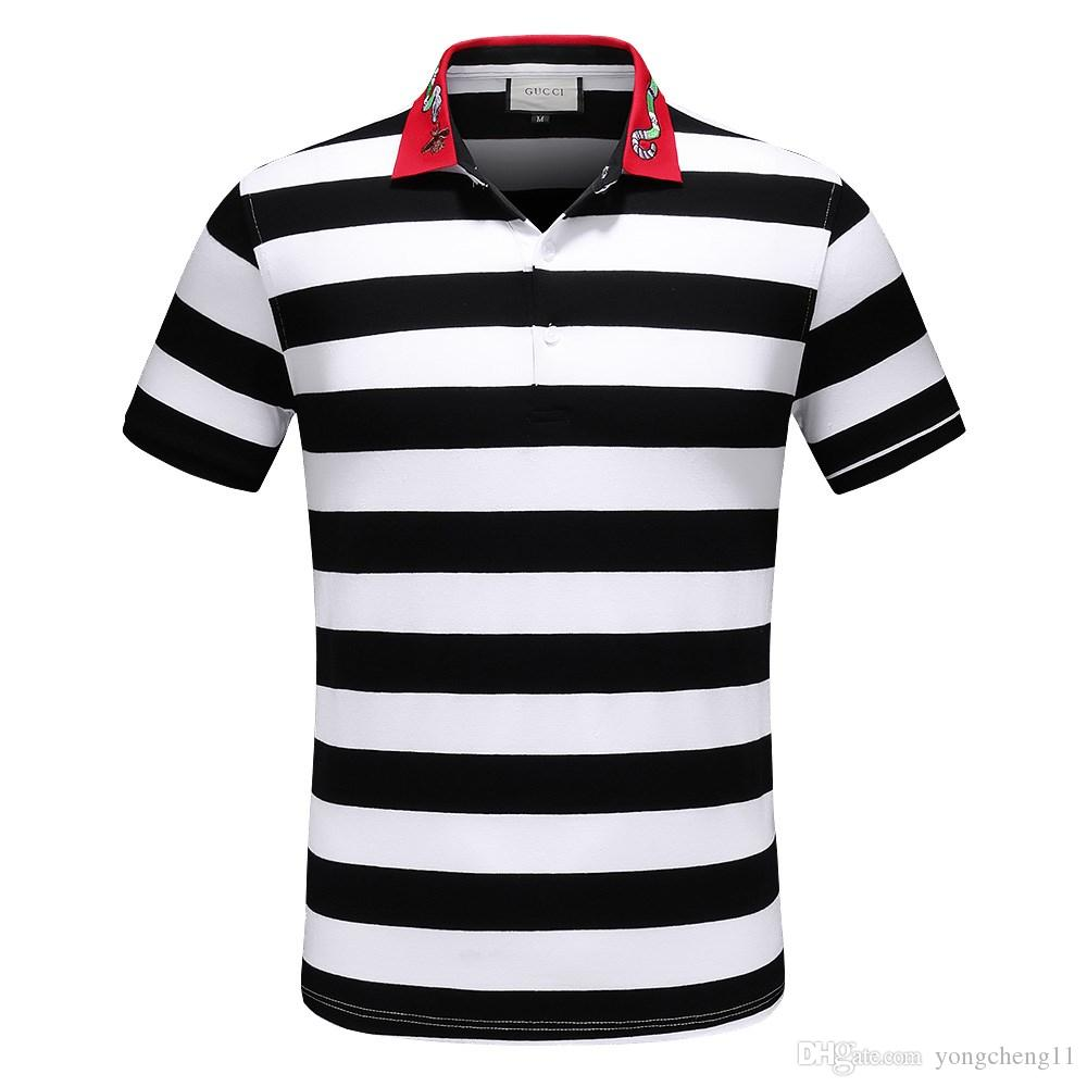 2018 Solid Polo Shirt Men Luxury Polo Shirts Long Sleeve Mens Basic Top Cotton Polos For Boys Brand Designer Polo R 6