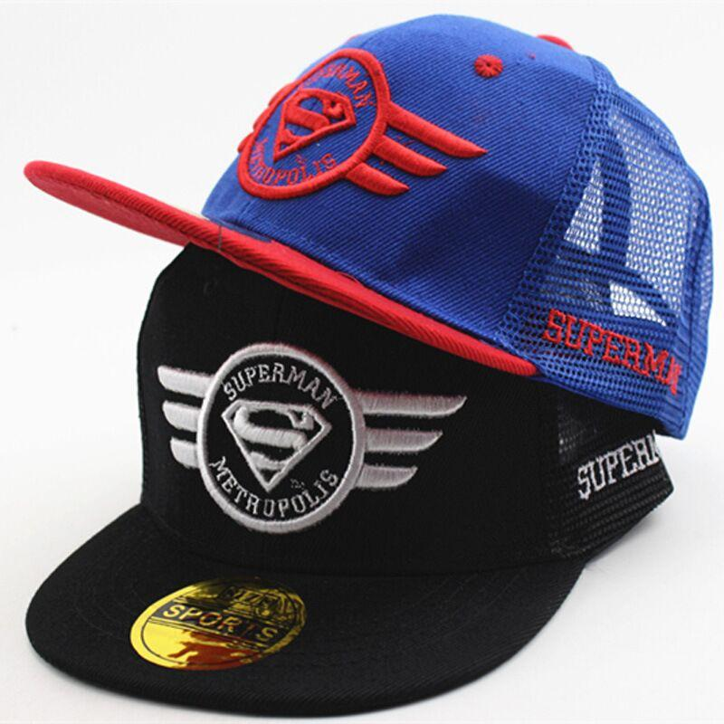 02840466ade New Kids Baseball Cap Fashion Cartoon Superman Wing Boys Girls Casquette  Snapback Caps Gorra Mesh Summer Hip Hop Hat Ball Cap Wholesale Hats From  Cfyh2018