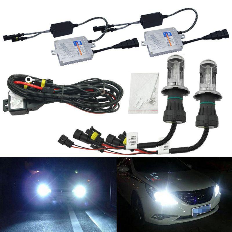 Led Lights Vs Hid Lights For Cars: LEEWA Car Headlight AC 12V 55W H4 HID Xenon Bulb Hi/Lo
