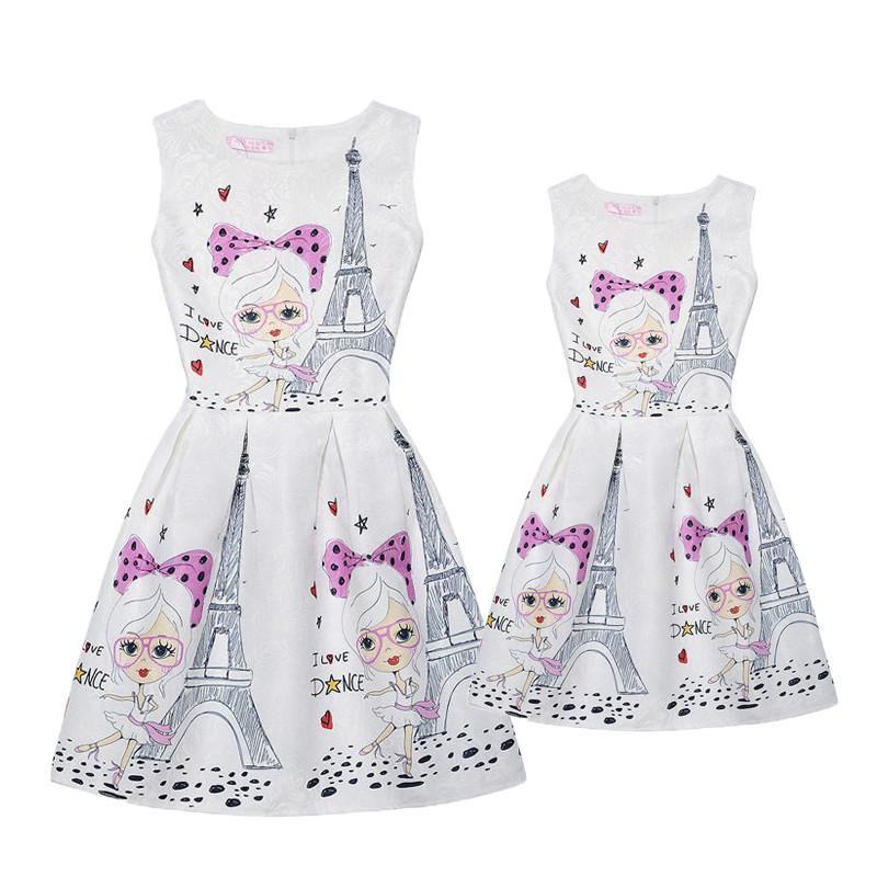 Mother Daughter Matching Outfits Dresses Autumn Teens Girls Print Butterfly  Dresses Kids Children Clothing Family Dress Mae E Filha Matching Outfits  For ... 0358e1f69d8