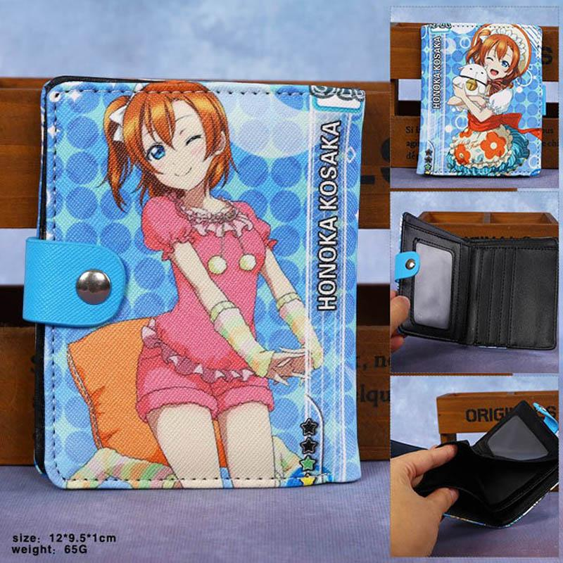 Anime Lovelive School idol project Kotori Minami Wallet Osomatsu-san Short Purse Colorful Synthetic Leather Money Bag