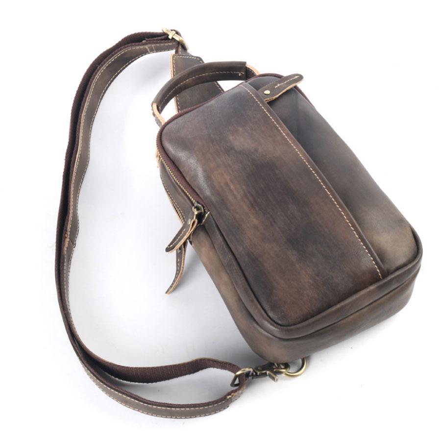 647644760cfb New Vintage Cowhide Men Single Shoulder Messenger Bag Travel Casual  Crossbody Bags Male Genuine Tanned Leather Sling Chest Bag Messenger Bags  Satchel From ...